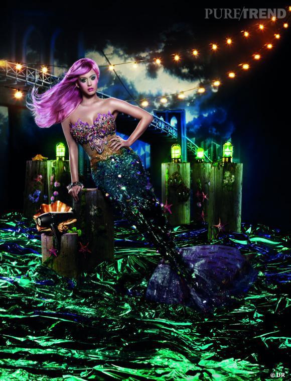 Katy Perry dans la campagne de publicité GHD Air shootée par David LaChapelle.
