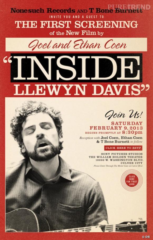 """""""Inside Llewyn Davis"""" des frères Coen : l'affiche du film."""