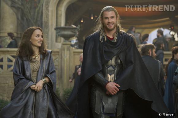 """Chris Hemsworth et Natalie Portman : un duo de choc pour """"Thor : Le Monde des Ténèbres""""."""