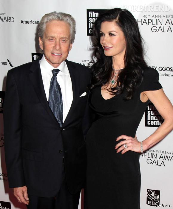Catherine Zeta-Jones et son mari, Michael Douglas, qui sort d'un cancer.