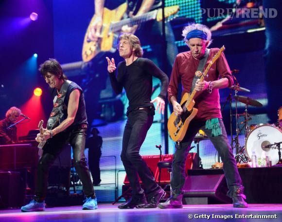 """Les Rollings Stones, à la première de leur """"50 & Counting Tour"""", le 3 mai 2013, au Nord des Etats-Unis."""