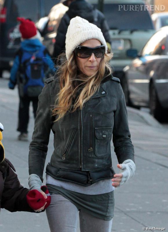 Sarah Jessica Parker adore son biker jacket MIH