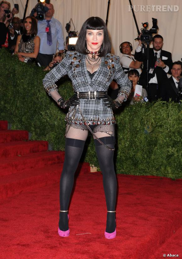 Madonna : son flop mode au gala du MET Ball 2013.