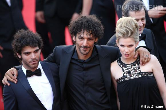 """Vincent Heneine, Tomer Sisley et Margot Bancilhon (Jeunes Talents Adami) à la projection de """"Blood Ties""""."""