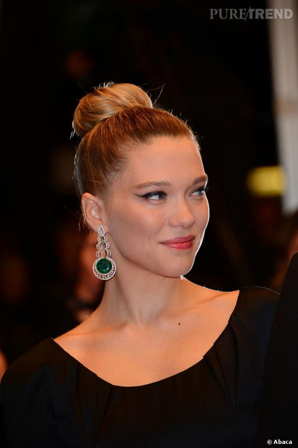 Les plus beaux make-up de Cannes 2013 Le liner graphique de Léa Seydoux, très Cléopâtre.