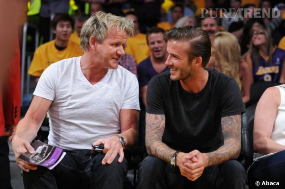 David Beckham et Gordon Ramsay : les deux très bons amis vont ouvrir deux restaurants, un à Londres et un autre à Las Vegas.