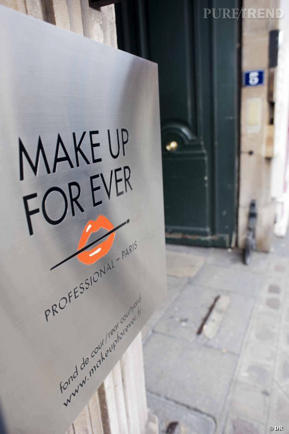 La boutique Make Up For Ever de la rue de la Boétie, un lieu culte pour la marque, qui ouvrira ses portes le 15 juin.