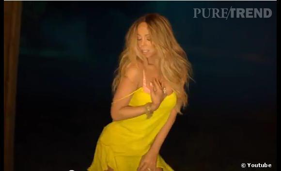 Mariah Carey toujours aussi sexy même la quarantaine passée.
