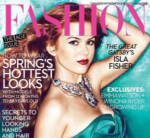 Isla Fisher s'affiche au Canada pour Fashion Magazine.