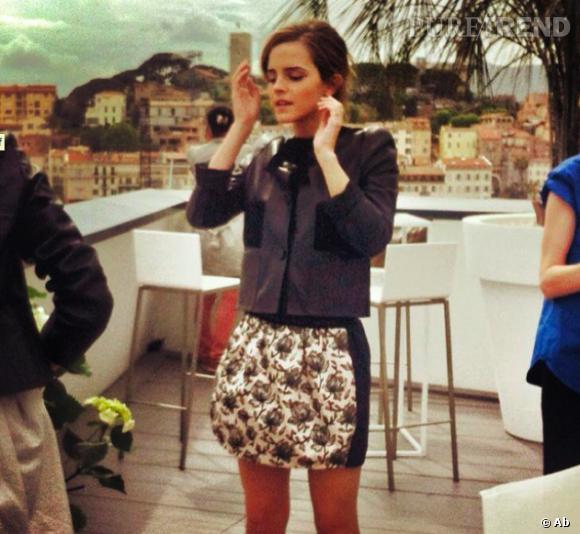 Emma Watson en interview pour Puretrend à Cannes.