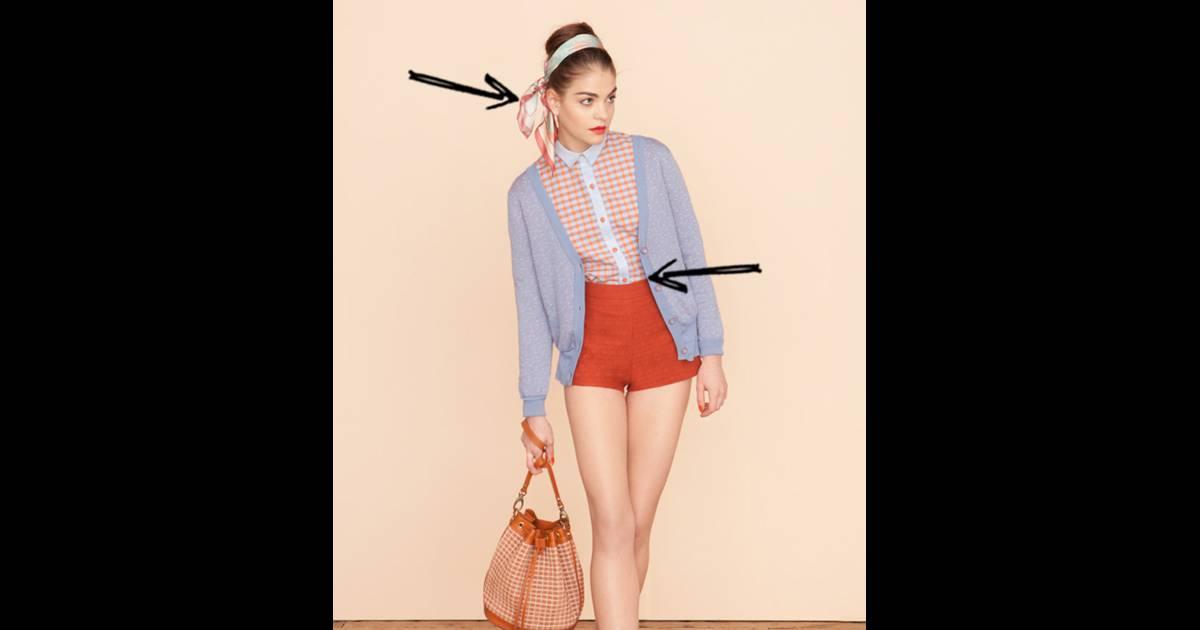 Comment porter le short ce Printemps-Eté 2013   Comme chez Sessùn le short  s adopte taille haute et mini avec un foulard dans les cheveux pour une ... 95b10f748dc