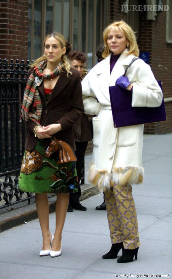 Le pantalon python, seules les actrices de la série l'osent !