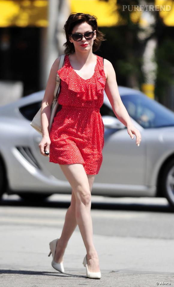 Rose McGowan, une jolie framboise à Los Angeles.