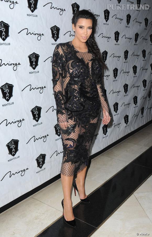 Kim Kardashian enceinte : sa première apparition après l'annonce de sa grossesse.