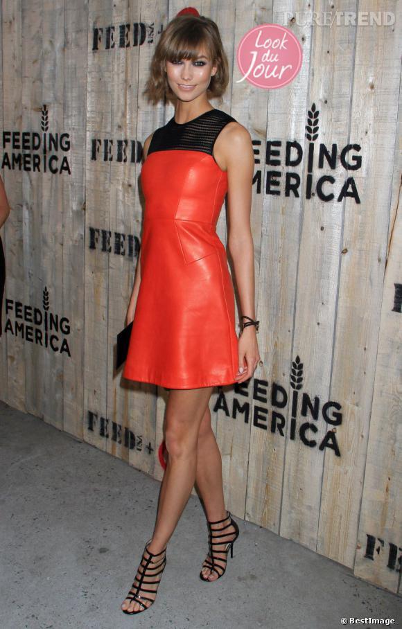Karlie Kloss à la soirée de lancement de la campagne FEED x Target à Brooklyn.