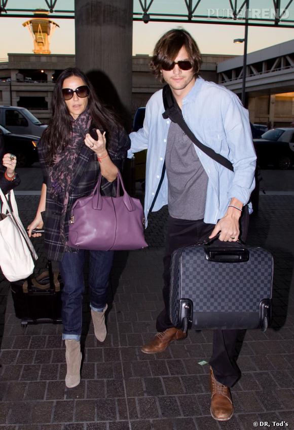 Demi Moore choisit son D. Bag dans une version violette des plus contemporaines.