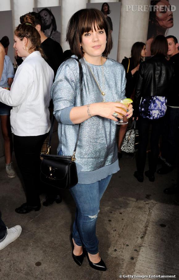 Lily Cooper, alias Lily Allen, à la soirée Katie Grand X Hogan et Net-à- Porter.com.