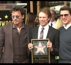 Johnny Depp et Tom Cruise : deux sex-symbol reunis sur le Walk of Fame en video pour Jerry Bruckheimer
