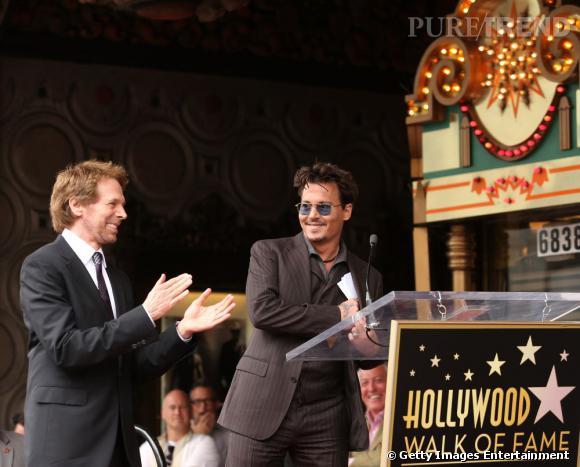 Johnny Depp a fait un discours touchant et plein d'humour à Jerry Buckheimer.
