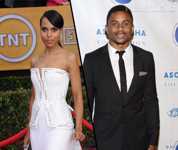 """Kerry Washington, l'actrice de """"Scandal"""", se serait mariée en secret avec son petit ami depuis un an, Nnamdi Asomugha."""