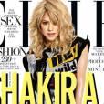 Shakira en Une de ELLE US : rock, sexy et aguicheuse.