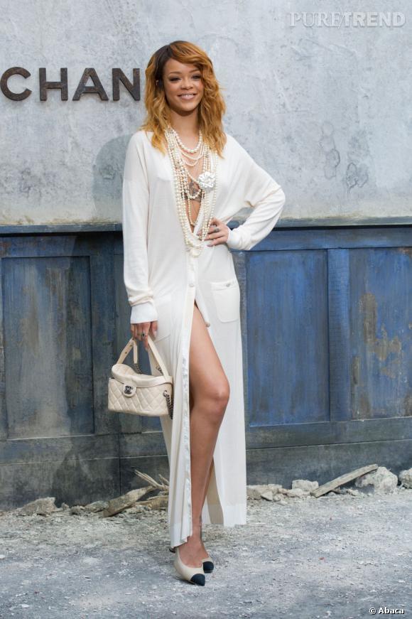 Rihanna chez Chanel Haute Couture à Paris.