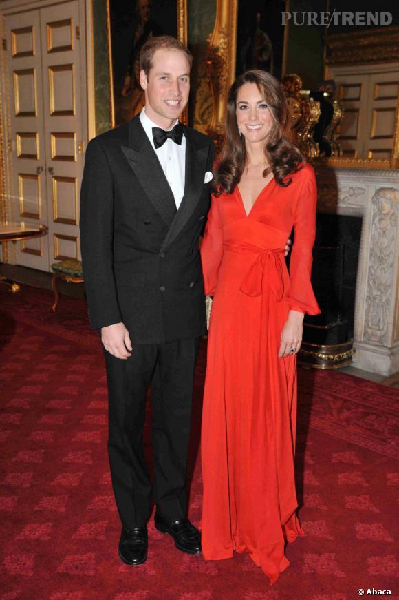 Kate Middleton et le Prince William, si élégants.