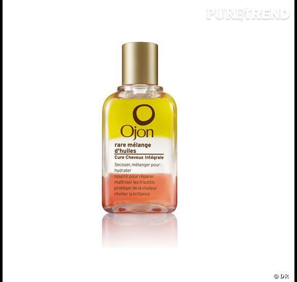 Ce mélange d'huile est l'allié beauté des plus pressées, elle s'applique en petite quantité sur les pointes à n'importe quel moment de journée. Rare Mélange d'Huiles Ojon chez Sephora et sur www.sephora.com : 34€