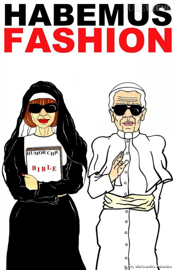 Karl Lagerfeld et Anna Wintour, Habemus Fashion d'aleXsandro Palombo.