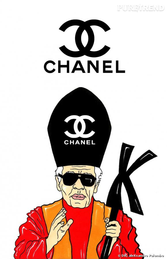Karl Lagerfeld est le pape de la mode selon aleXsandro Palombo.