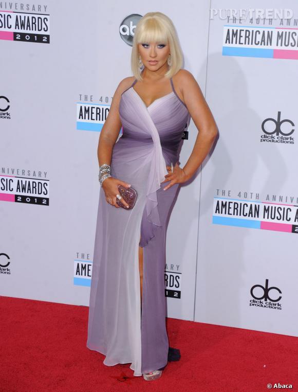 En novembre dernier, Christina Aguilera affichait une silhouette nettement plus pulpeuse.