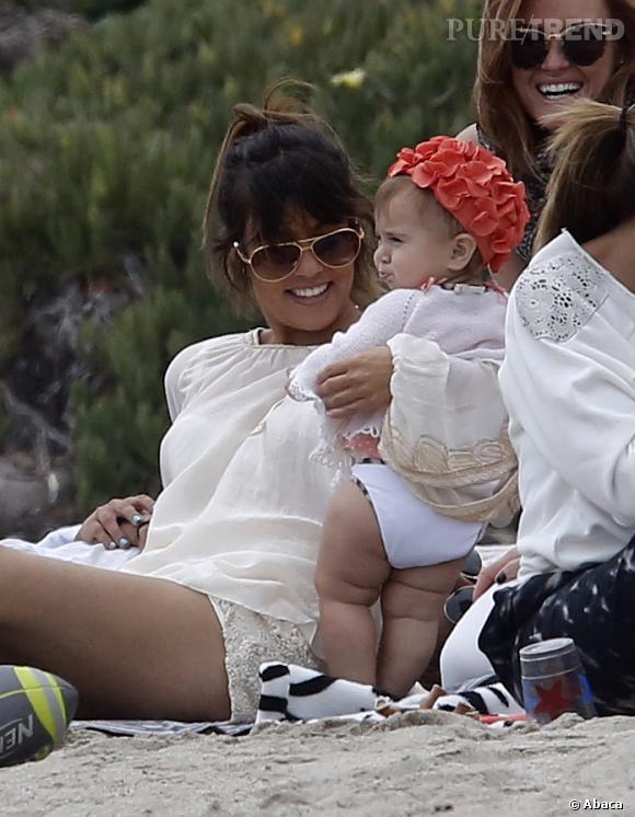 Kourtney Kardashian et sa fille Penelope cet été.