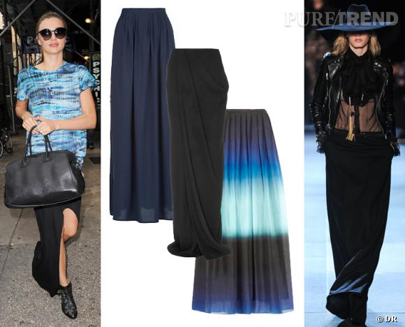 Jupe longue : zoom sur la tendance maxi skirt