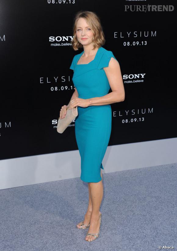Jodie Foster en Roland Mouret à la première hollywoodienne du film Elysium.