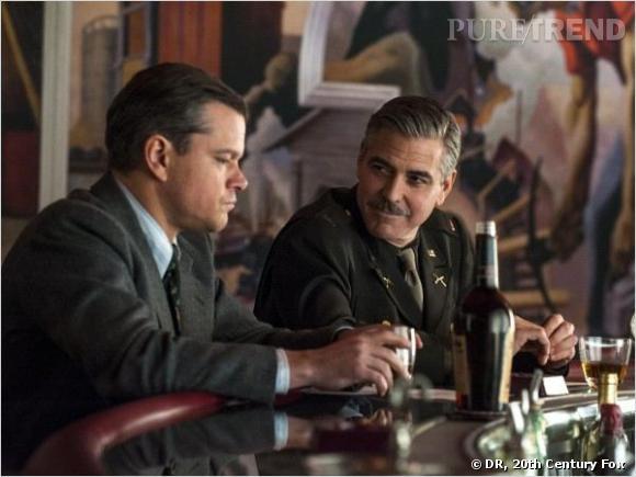 """George Clooney et Matt Damon dans """"The Monuments Men""""."""