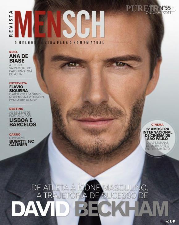 David Beckham version barbu pose pour le magazine Mensch.