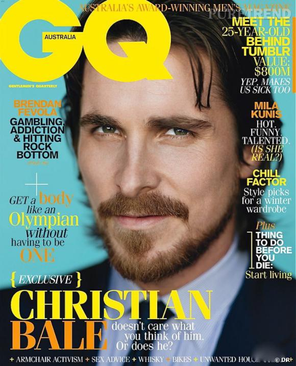 Christian Bale version barbu pose pour le magazine GQ.