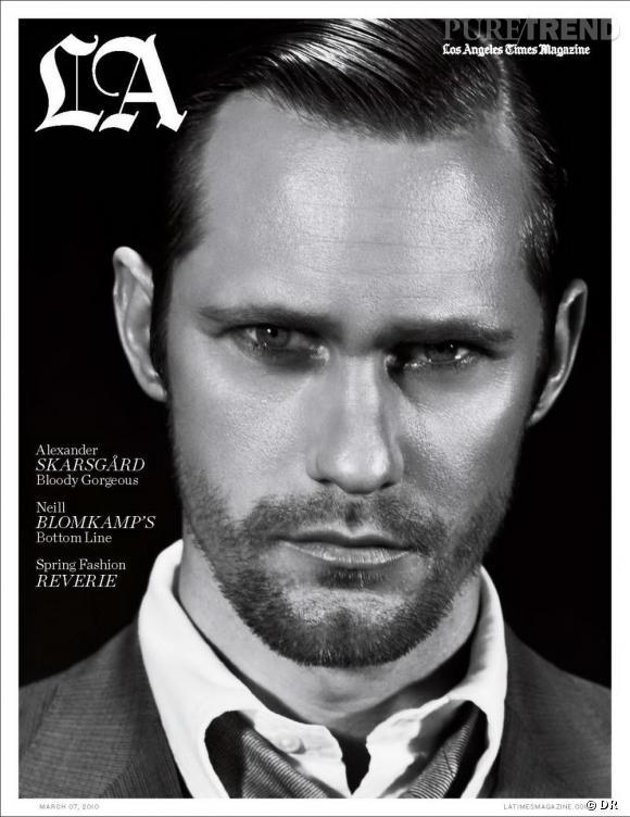 Alexander Skarsgard version barbu pose pour le magazine LA.