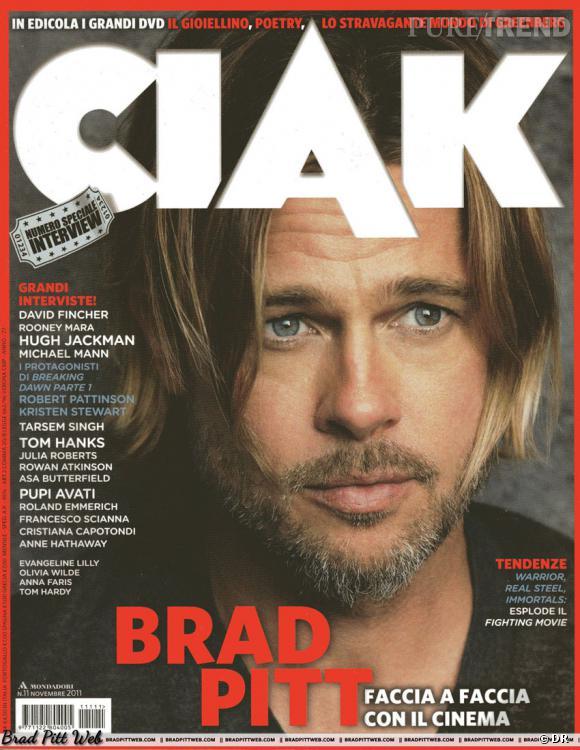 Brad Pitt version barbu pose pour le magazine CIAK.