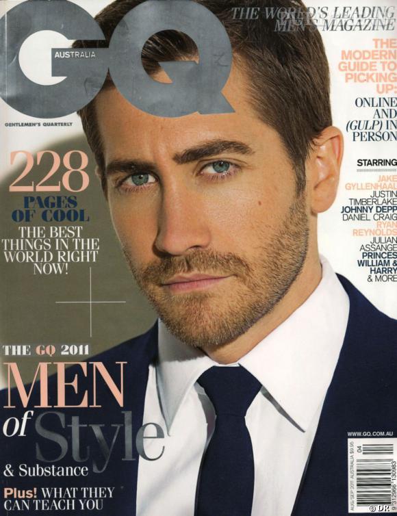 Jake Gyllenhaal version barbu pose pour le magazine GQ.