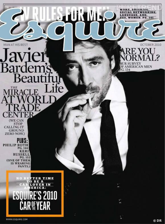 Javier Bardem version barbu pose pour le magazine Esquire.
