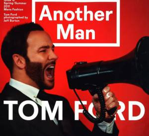 Tom Ford version barbu pose pour le magazine Another Man