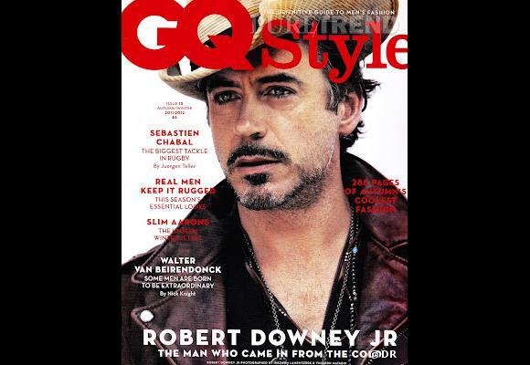 Robert Downey Jr version barbu pose pour le magazine GQ style.