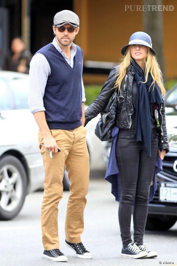Le flop look en couple  : trop de vêtements tue le vêtement, Blake Lively devrait pourtant le savoir.