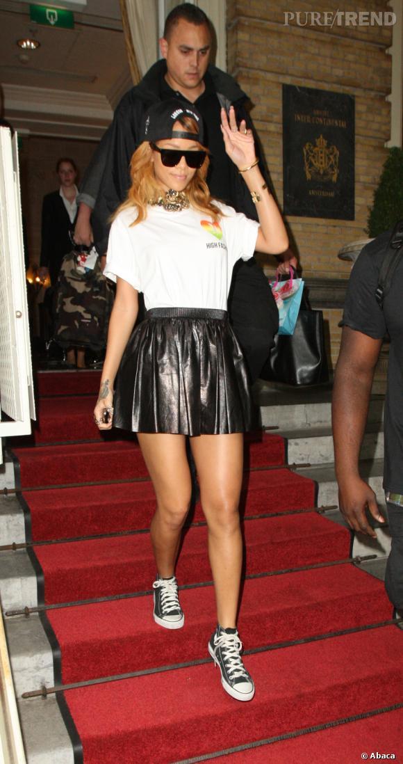 Les Converse, it-shoes des stars : Rihanna est fan des baskets All Star Chuck Taylor