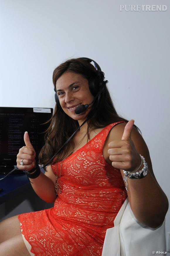 Marion Bartoli, la nouvelle consultante d'Euosport a pris ses quartiers à l'US OPEN de New York 2013.