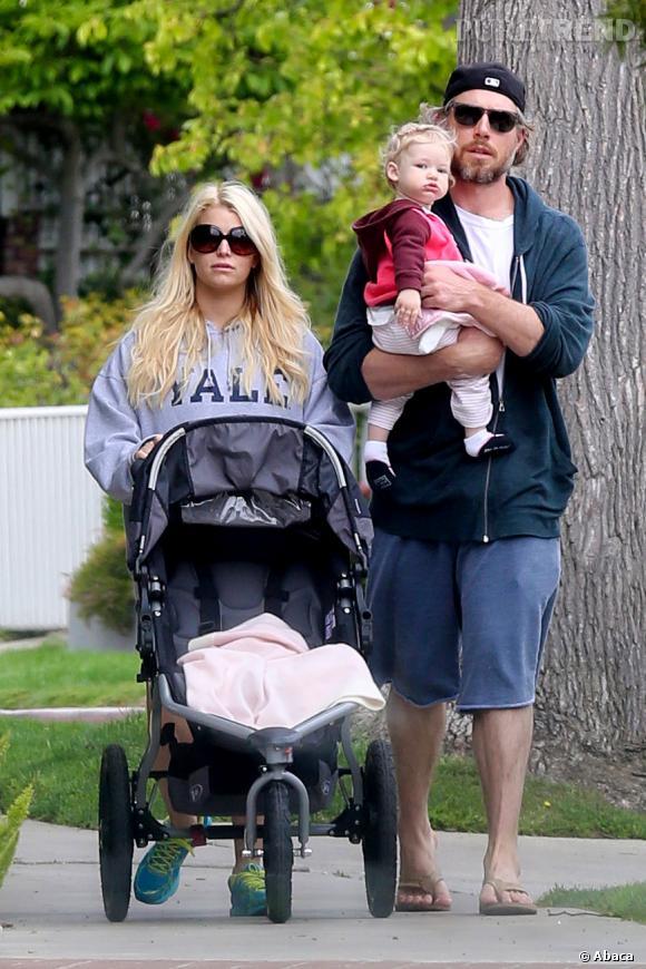 Jessica Simpson et sa petite famille.
