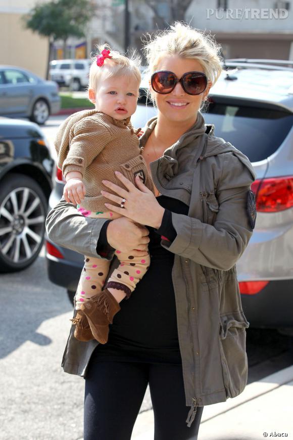Jessica Simpson et sa fille Maxwell.