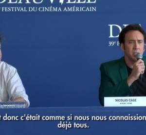 Nicolas Cage, tres emu : un veritable hommage a Deauville (video)