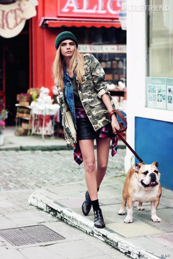 Cara Delevingne égérie de la collection Automne-Hiver 2013/2014 Pepe Jeans.